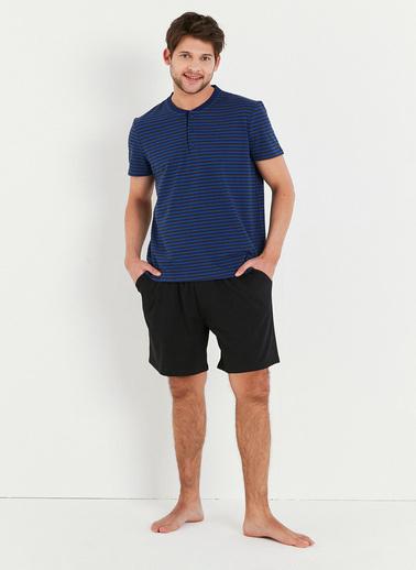 Penti Çok Renkli Soft Navy Stripe Ss Şort Takımı Renkli